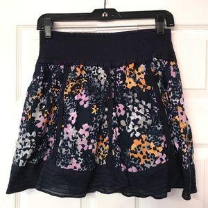 Free People navy skirt